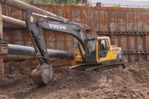 excavation machine renting