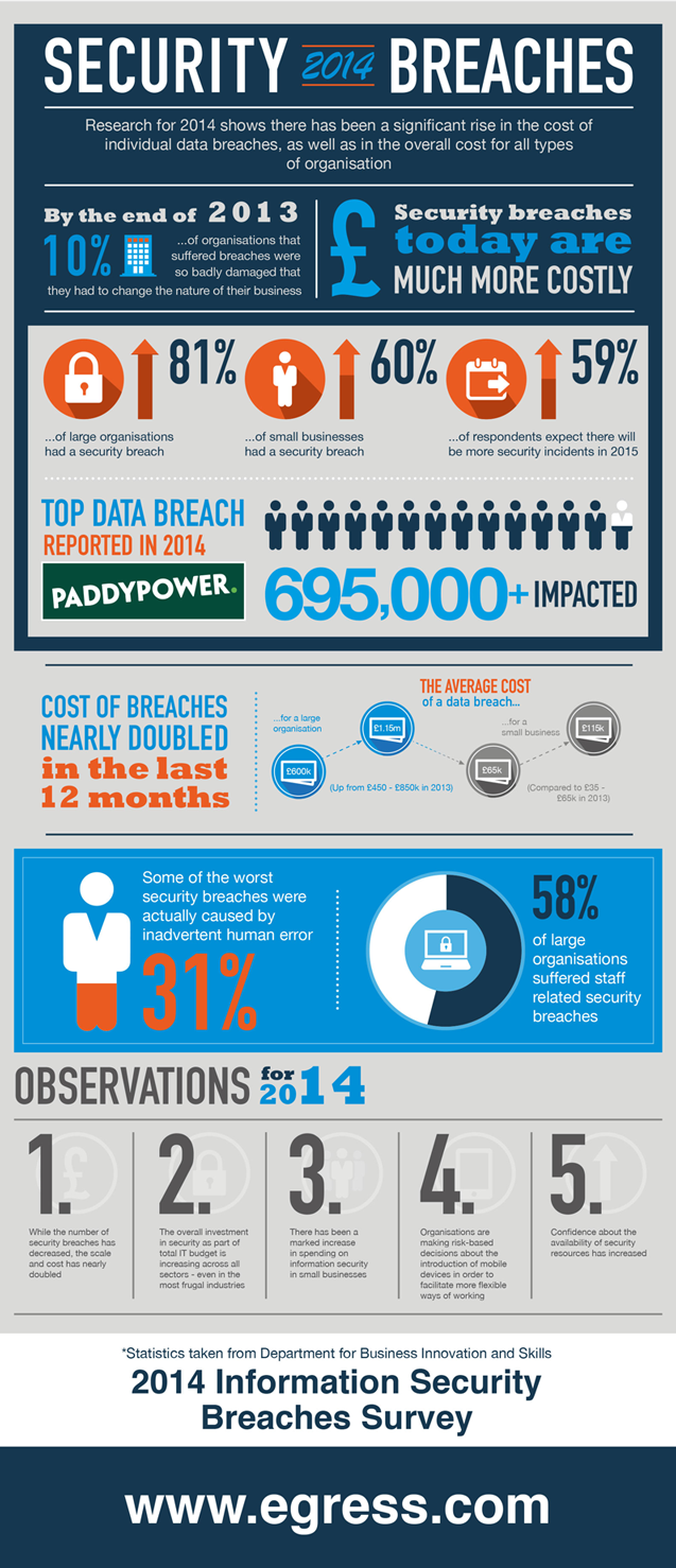 Infographic about Data Breaches in 2014