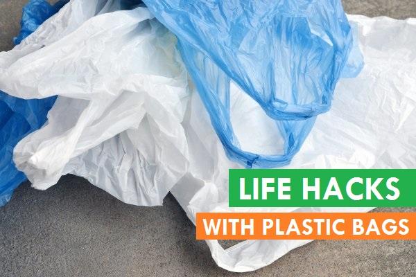 life hacks using plastic bags