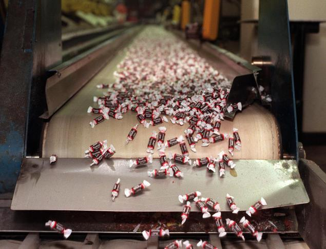 Millions of Tootsie Rolls are rolled out every day and the brand has become iconic with its packaging