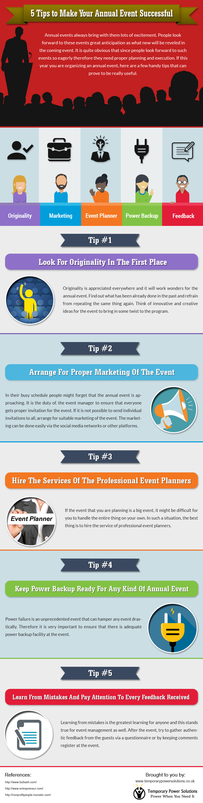 Infographic on how to make an event successful