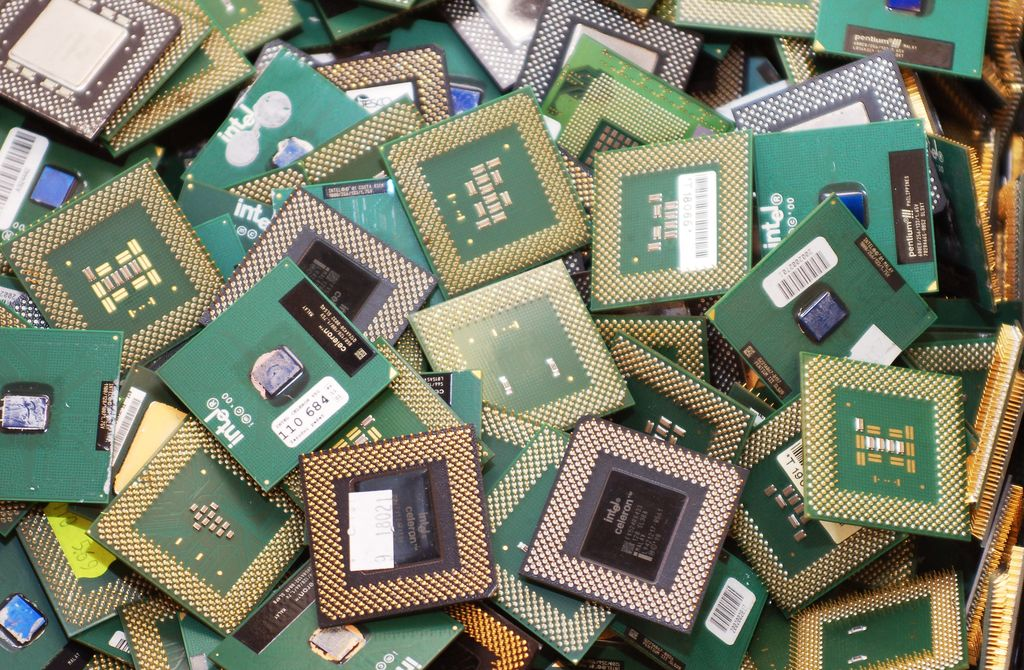 Retired CPUs as waste electronics