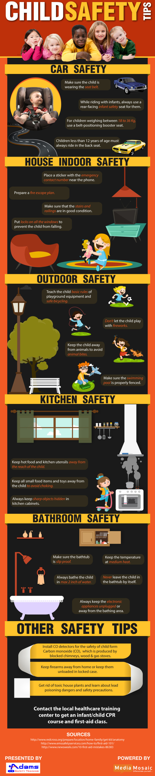 Child Safety Tips Infographic