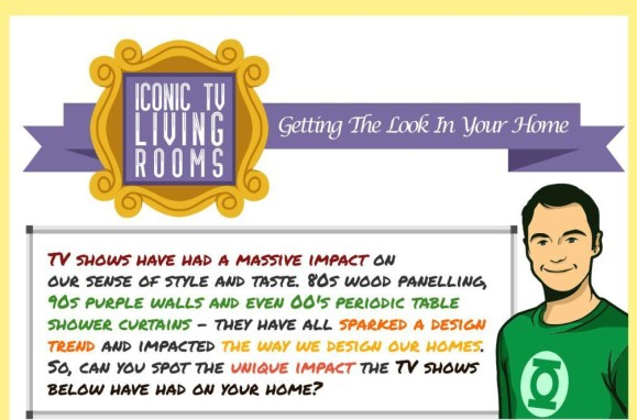 Iconic TV Living Rooms Infographic thumb