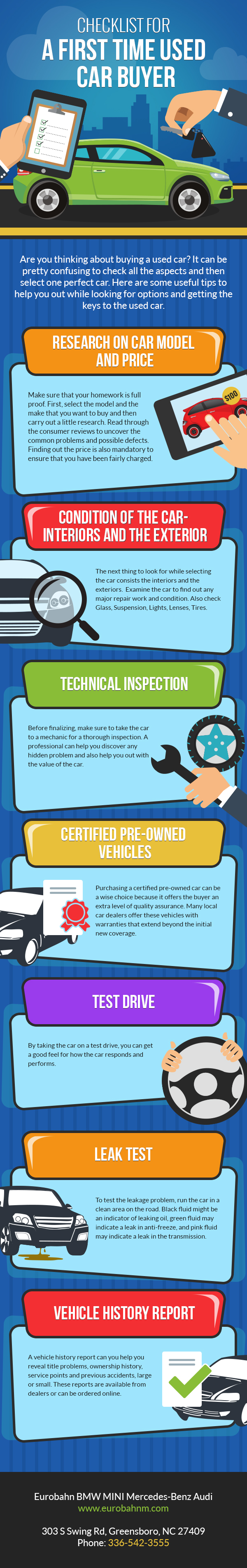 Checklist For A First Time Used Car Buyer [Infographic] | The Local ...