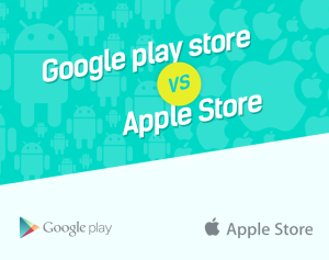 Apple Store And Google Play Store. Let's Find Out What Makes Each Special [Infographic]