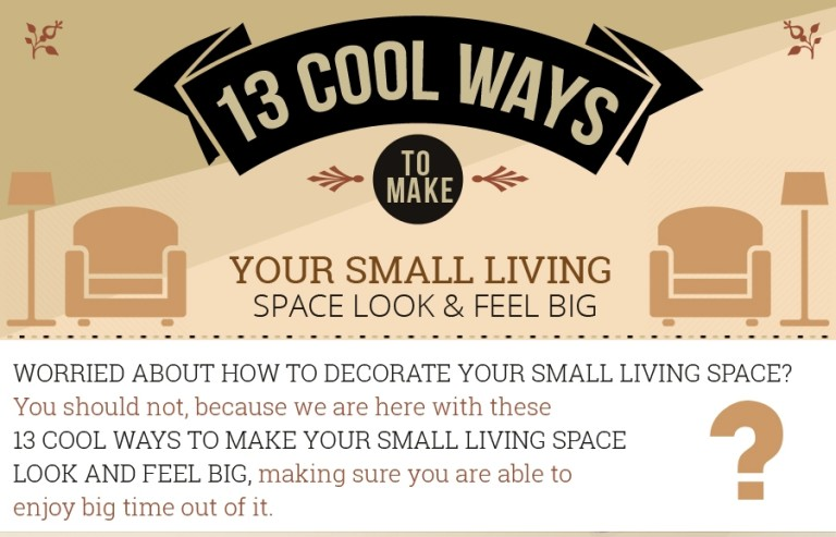 13 ways to make small living space look big thumb
