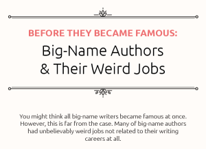 Unusual Jobs of Famous Writers [Infographic]