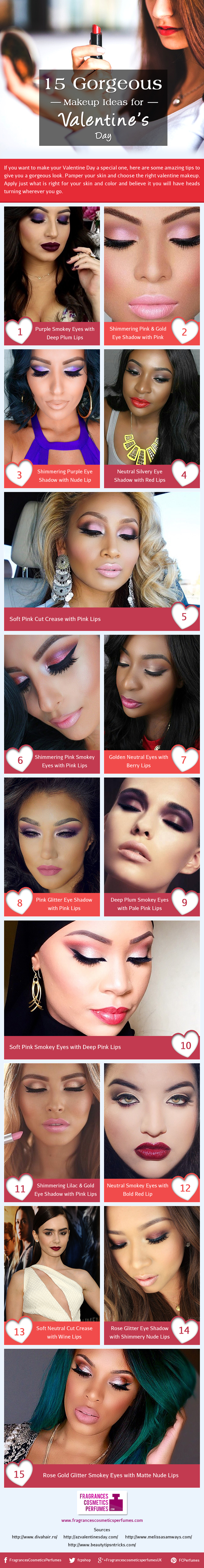 15 Gorgeous Makeup ideas for Valentine's Day