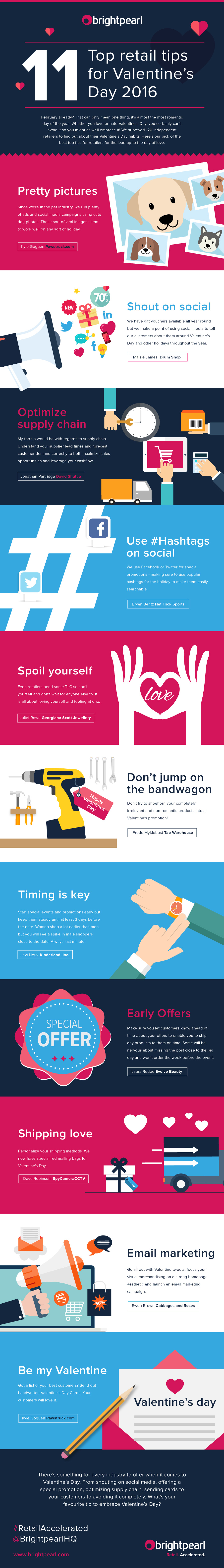 Valentine day customer top tips infographic
