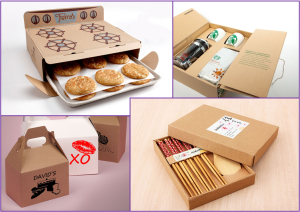Cardboard packaging collage