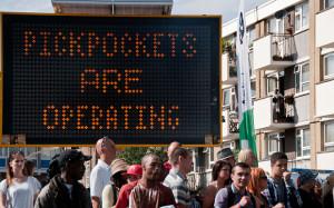 Pickpockets signage