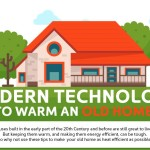 infographic on modern technology to warm an old home thumb