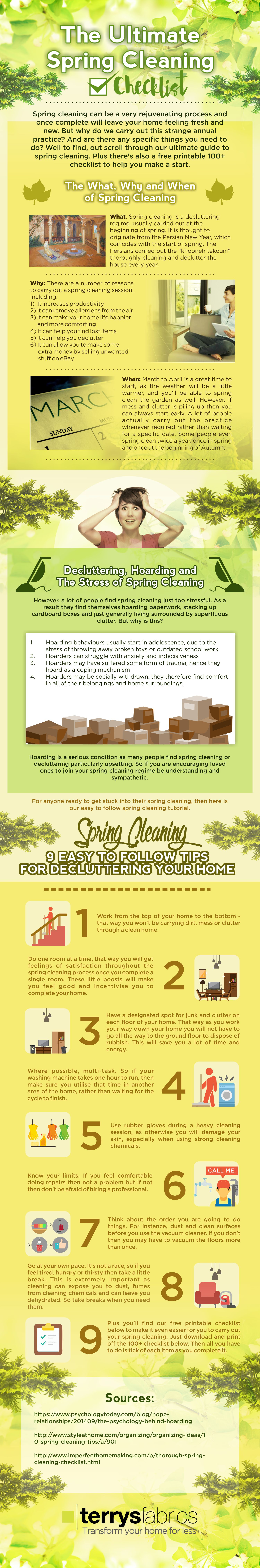 Ultimate Spring Cleaning Checklist Infographic