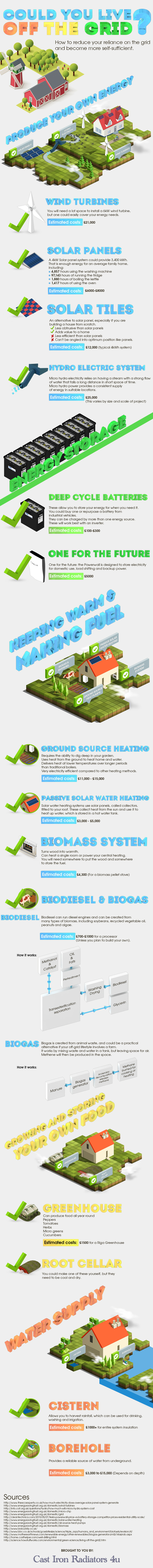 infographic could you live off the grid