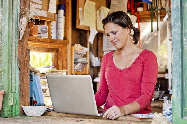 small business owner and websites
