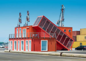 Office made out of shipping containers