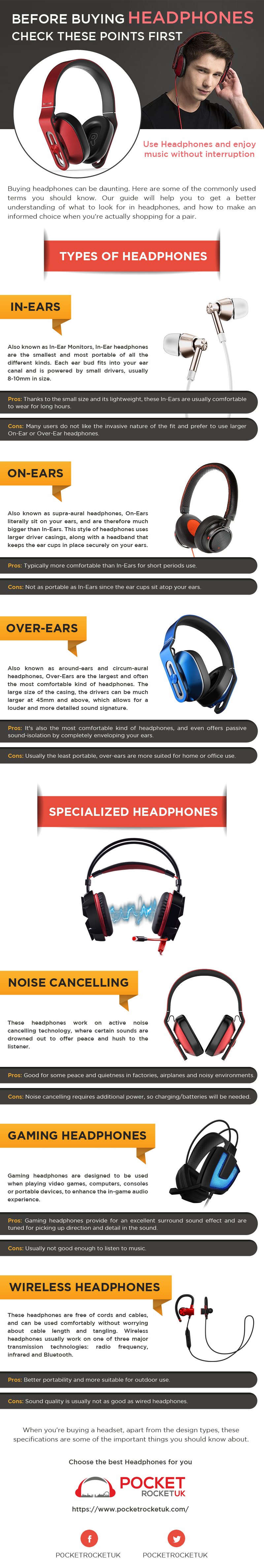 BEFORE BUYING HEADPHONES CHECK THESE POINTS FIRST [INFOGRAPHIC]