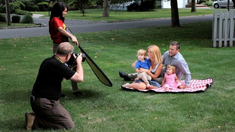 Shooting family portraits