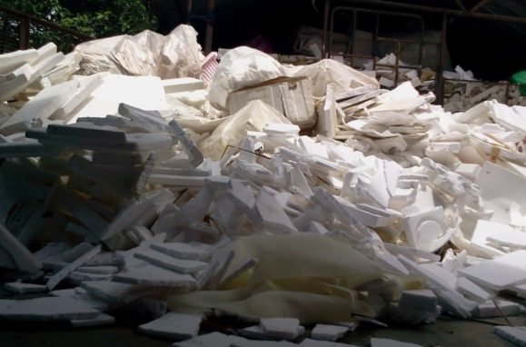 Thermocol waste and ecological disaster