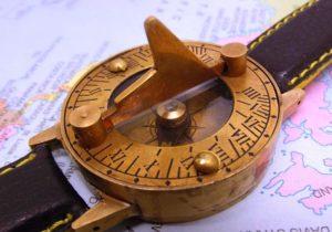 A sundial wristwatch