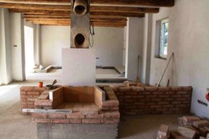 Fireplace hearth DIY building