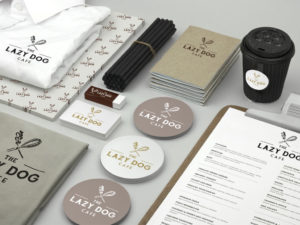 Lazy Dog Cafe Corporate Identity Design